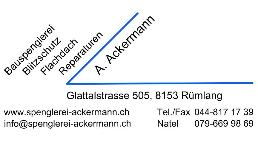 Logo der Spenglerei Ackermann in Rümlang